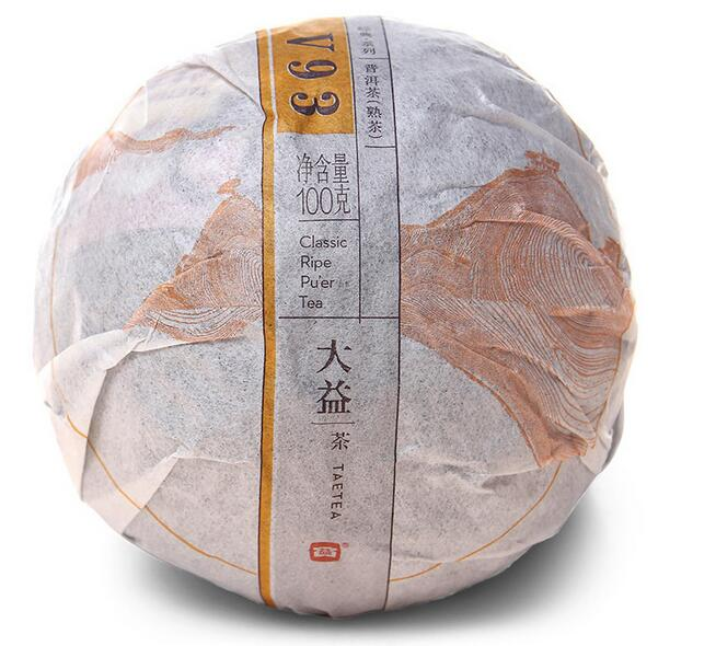 100g Puer Tea 2014 yr MengHai Factory Dayi TAETEA Premium Pu erh Ripe Shu V93 Tuocha Tuo Cha
