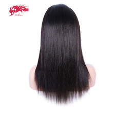 130% Density Straight Lace Front Human Hair Wigs For Black Women Pre Plucked Brazilian Remy Hair Ali Queen Hair