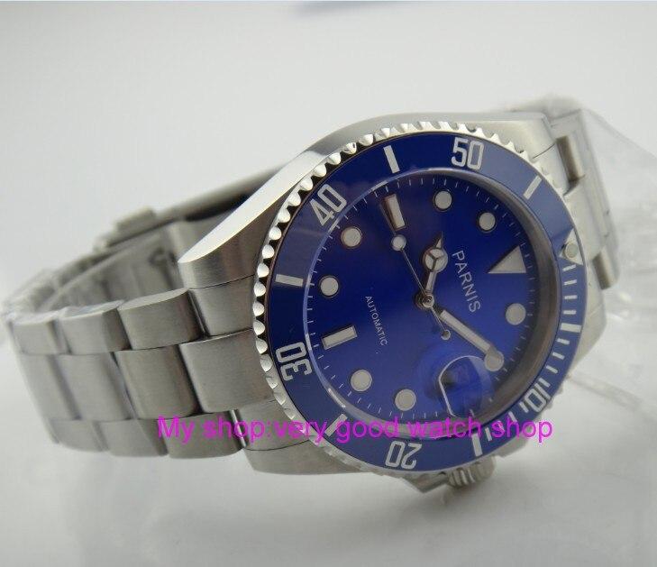 40 мм Парнис японский Самовзводные движение Керамика ободок сапфировое стекло Световой мужские часы механические часы G21