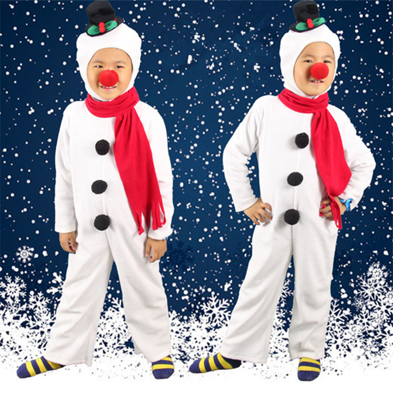 Halloween Christmas Children Snowman Costume Cosplay Performance Festival Play Snowman Styling Clothes For Men And Women