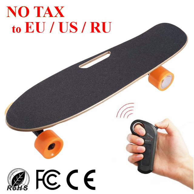 Cheap Electric Skateboard >> Portable Mini Four Wheel Electric Skateboard Adult Scooter 24v Penny