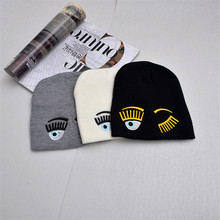 Unisex Leisure Knitted Hat Female Warm Cotton Blends Hat Women's Winter Cap Men Embroidery Stars Hip