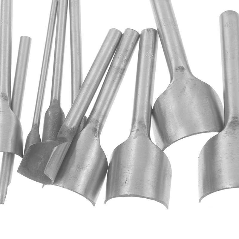 5-45mm עגול פילה בצורת חגורת אגרוף C בצורת אגרוף זנב לחתוך חצי עיגול עבודת יד עור ToolDIY עור חיתוך כלי