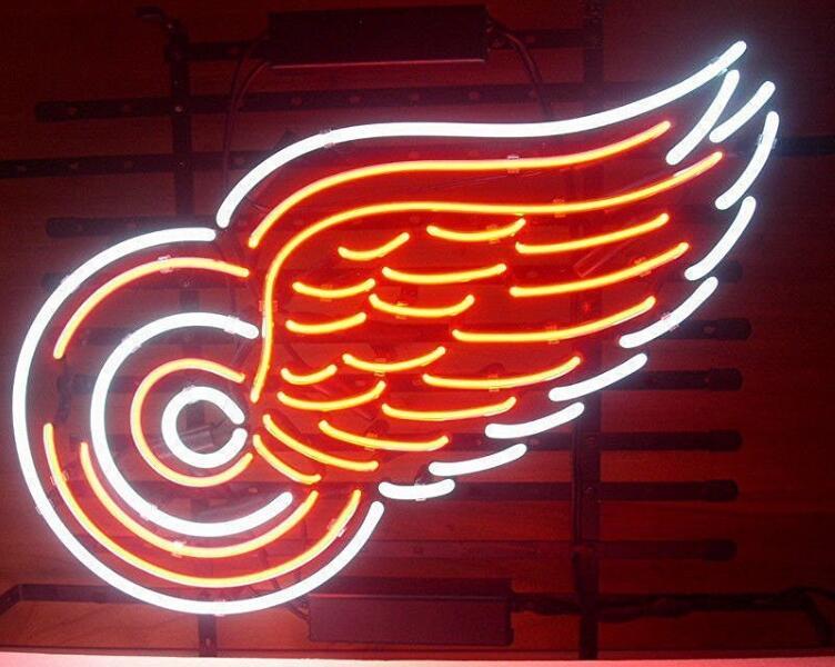 Panneau de lumière néon en verre ailes