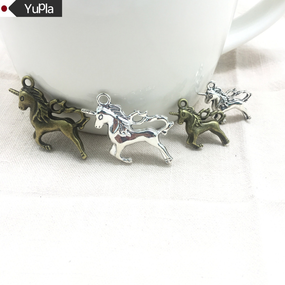 10pcs Charms Metal Animal Horse,antique Making Pendant Fit,vintage Tibetan Silver,jewelry Diy Bracelet Necklace 27x17mm Charms Jewelry Sets & More