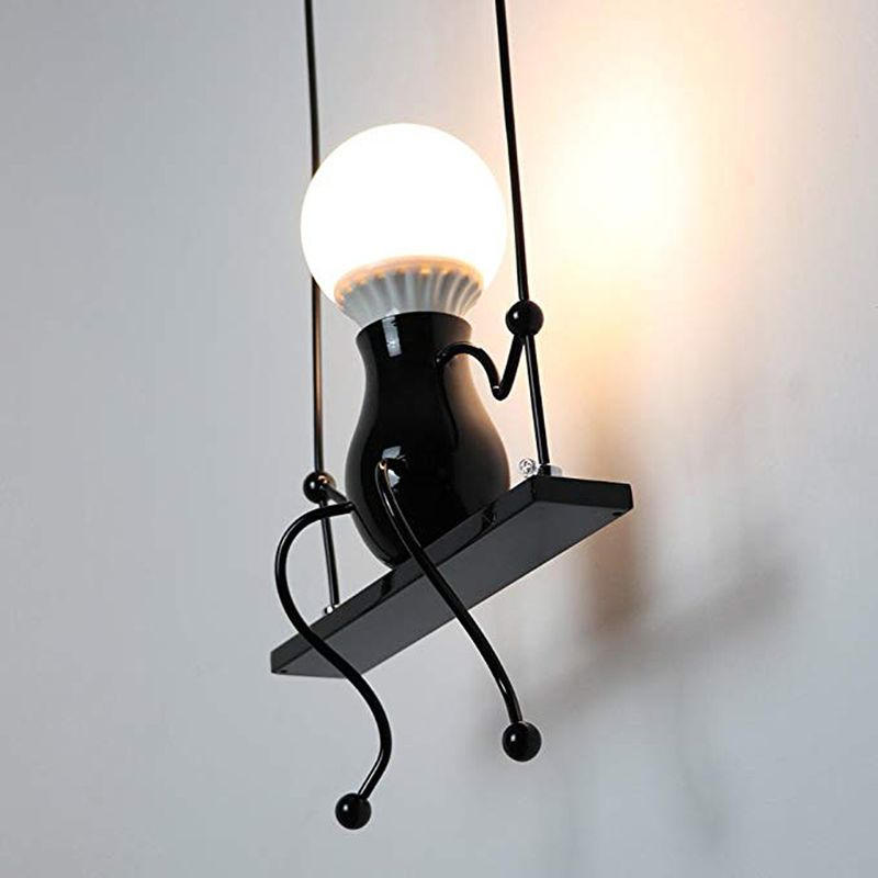 Air Purifier Parts Home Appliance Parts Novelty Led Wall Lamp Swing Shape Decoration Aisle Sconces Modern Wall Light