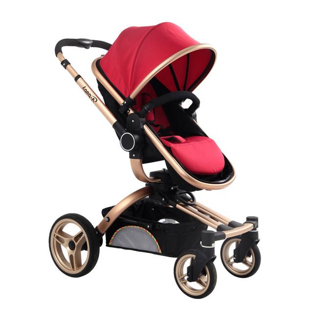 2 en 1 Cochecito de Bebé Carro De Bebé Plegable Con Bolsa de Moda Protable Del Bebé Kinderwagen