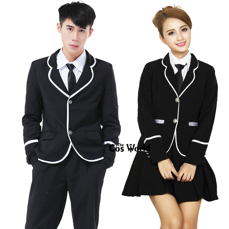 Preppy Style Student Class Japan Girls JK High School Uniform Blazer Suit Skirt Boys Coat Shirt Pant