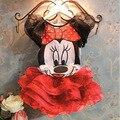 2017 Chica de Dibujos Animados de Mickey minnie mouse Vestido de Las Muchachas Para El Partido niños Ropa de Bebé Desgaste de Los Niños de Moda de Verano Vestidos de La Muchacha Encantadora 5