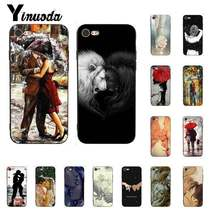 Yinuoda Romantic couple holding hands and kissing Cute Phone Case for iPhone5 5S 6 7 7plus 8 8Plus X XSMAX XR 11 11pro 11promax(China)