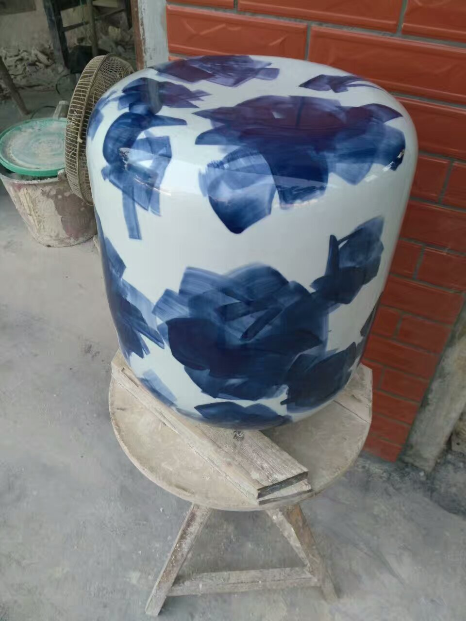 Jingdezhen Porcelain Garden Stool Ceramic Stool For Dressing Table Chinese  Blue And White Garden Stool Vintage