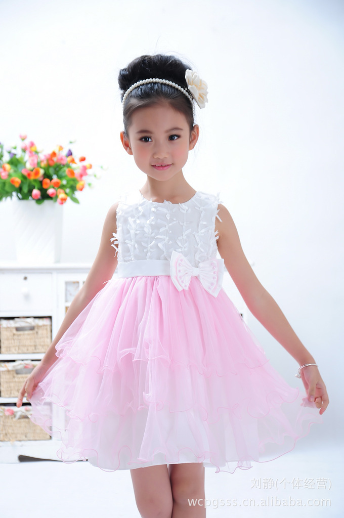 satin tulle stripe flower girl dress wedding easter junior