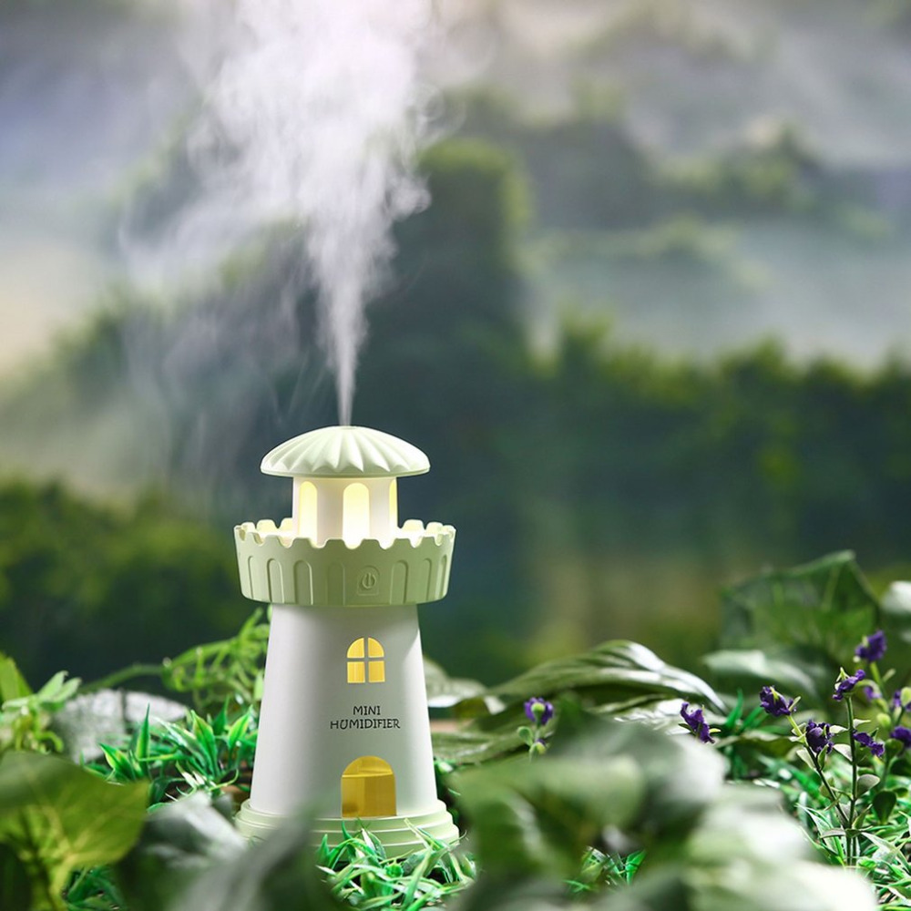 Lighthouse Humidifier Household Appliance Atomizer USB Air Humidifier Dorpshipping
