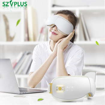 Wireless rechargeable Air pressure Eye massager with mp3 eye magnetic far-infrared heating eye care vibrating anti black eye