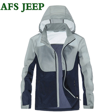 AFS JEEP New Summer Famous Brand Men's Jacket High Quality Hooded Men Jacket Personality New Style Transparent Skin Jacket 85