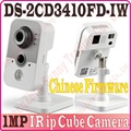 No Box, Chinese Firmware DS-2CD3410FD-IW 1MP IR Cube network camera full HD 720P real-time video WIFI multi-function IP camera