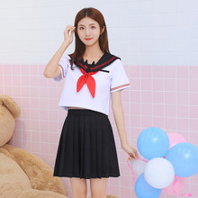 fee45ca45b UPHYD nueva llegada Anime uniforme de la escuela S-XXL la Escuela de chicas  JK japonés coro uniformes Top + falda + + corbata tr.