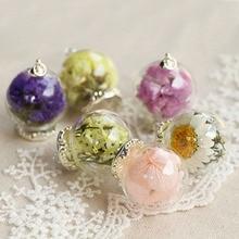 Handmade Flower Glass Pendant Necklace