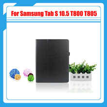 3 in 1 , Pu Leather Stand Tablet Cover Case For Samsung Galaxy Tab S 10.5 T800 T805 + Screen Film + Stylus with