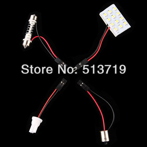 2014 new xenon White 15 SMD Car LED Light Lamp Panel T10 Dome Bulb BA9S Adapter luggage compartment lights Packing Car Styling