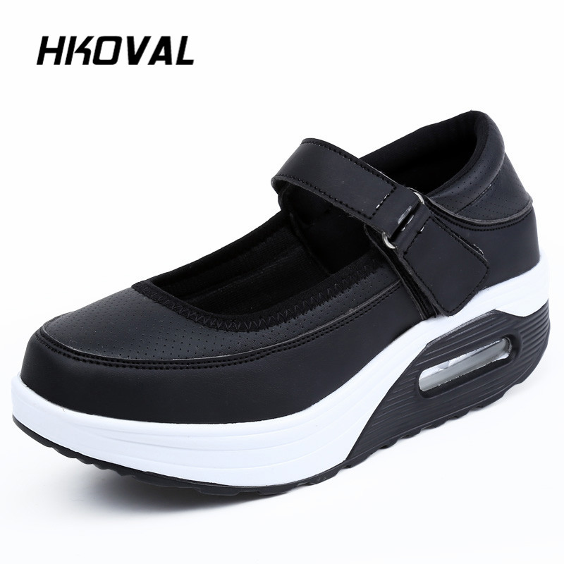 HKOVAL Women 39 s Shoes Sneaker Loafers Autumn Spring Flats Breathable Canvas Wedges Fashion Casual Loafers Mesh Comfortable Shoes in Women 39 s Flats from Shoes