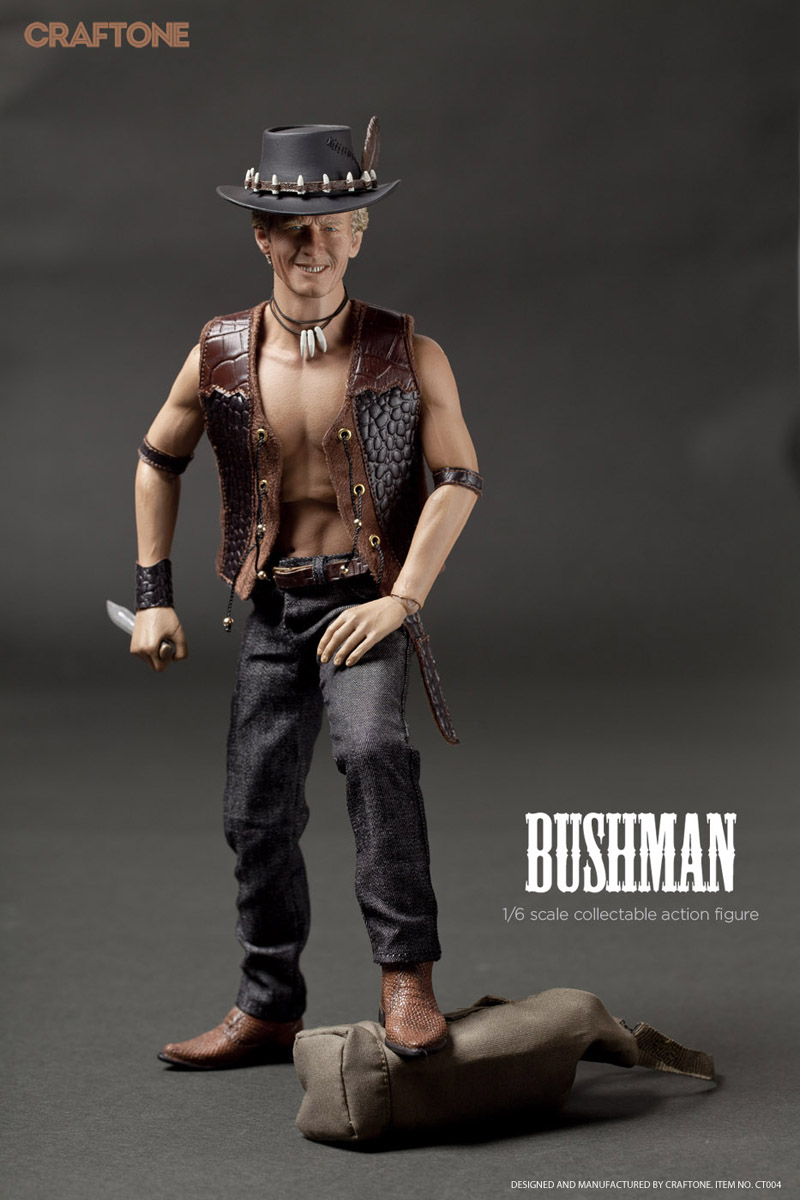 CRAFTONE 1/6 scale Crocodile Dundee Bushman Paul Hogan.figure doll model.12 action figure doll.Collectible Figure model pocket bushman cold steel