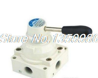 1pcs 4 way 2 position Manual Hand lever Pneumatic Valve 3/8