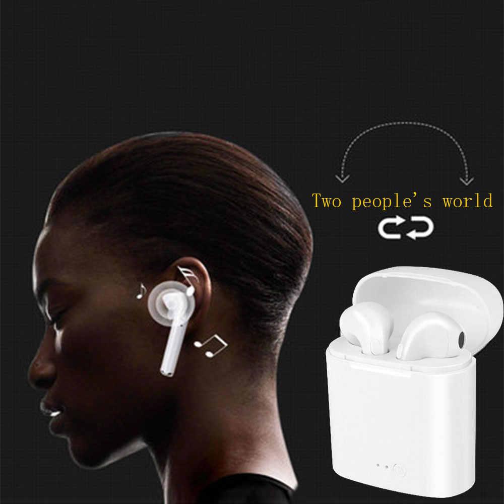 RGLM I7s TWS ミニ Bluetooth イヤホンステレオ Bluetooth ヘッドセット充電ポッドワイヤレスヘッドセットとすべてのスマートフォン