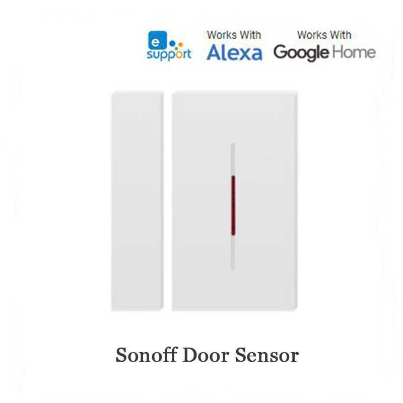 SONOFF RF puente 433MHZ Wifi puerta ventana Sensor de movimiento DW1 Detector inalámbrico inteligente domótica sistema de seguridad Alexa Google