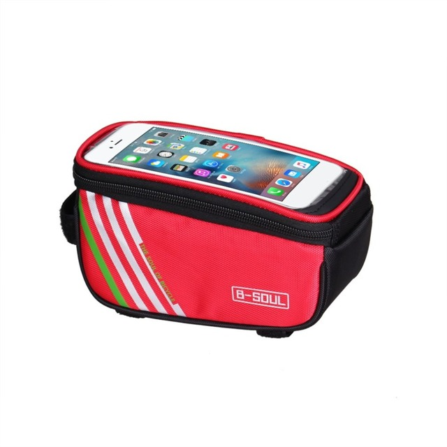 B-SOUL Touch Screen MTB Bike Bicycle Bags Waterproof Cycling Top Front Tube Frame Bags Bike Accessories for 5.5inch iPhone 6 7