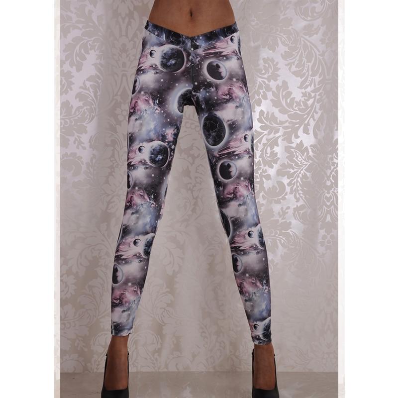 Wholesale Retail Leggings Hot Sale Women Mid Waist Sexy Digital Print Leggings Ankle-Length Pants Drop Shipping Wl010
