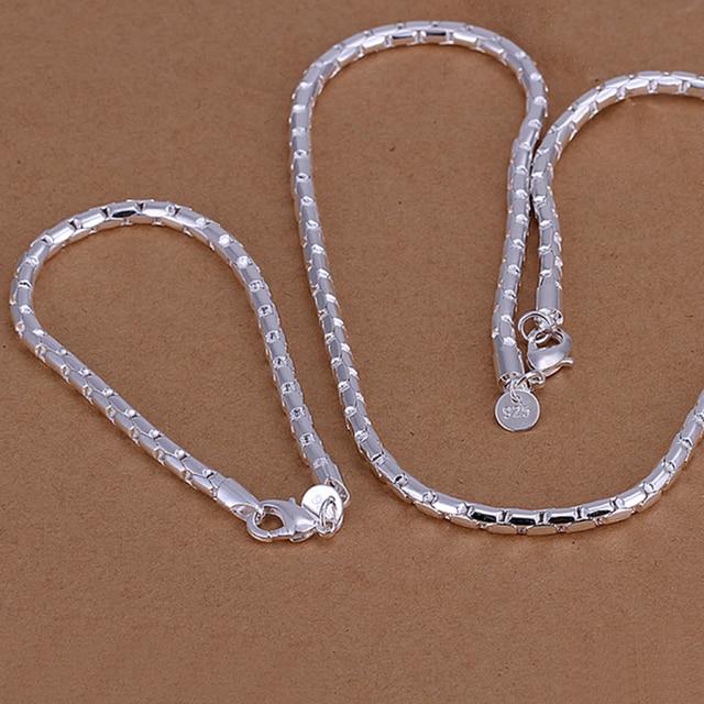 c121837c3b7b Joyas de plata 925 joyería venta al por mayor conjuntos de joyas de plata  collar de