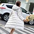 2016 Nueva primavera chaqueta de las mujeres parka invierno abajo cubre mujeres ropa Medio-Largo pato abajo delgado Chaqueta de la capa caliente alta Calidad