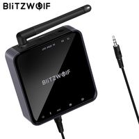BlitzWolf BW BR4 V5.0 Wireless Bluetooth Receiver aptX HD Music Receiver Transmitter Audio 2 in 1 Adapter Aux Receiver