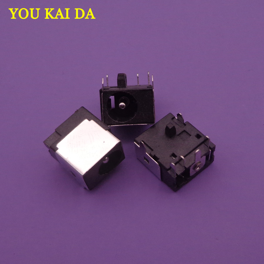 10pcs 1.65mm DC Power Jack For HP Compaq 6520s 6720S 6820S CQ320 321 620 421 420 325 420 625 510 520 540 530 550 320 Connector