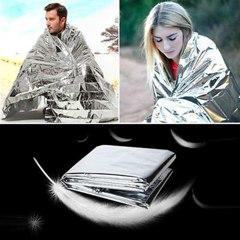 Outdoor Emergency Solar Blanket Reusable Survival Safety Mylar Thermal Heat