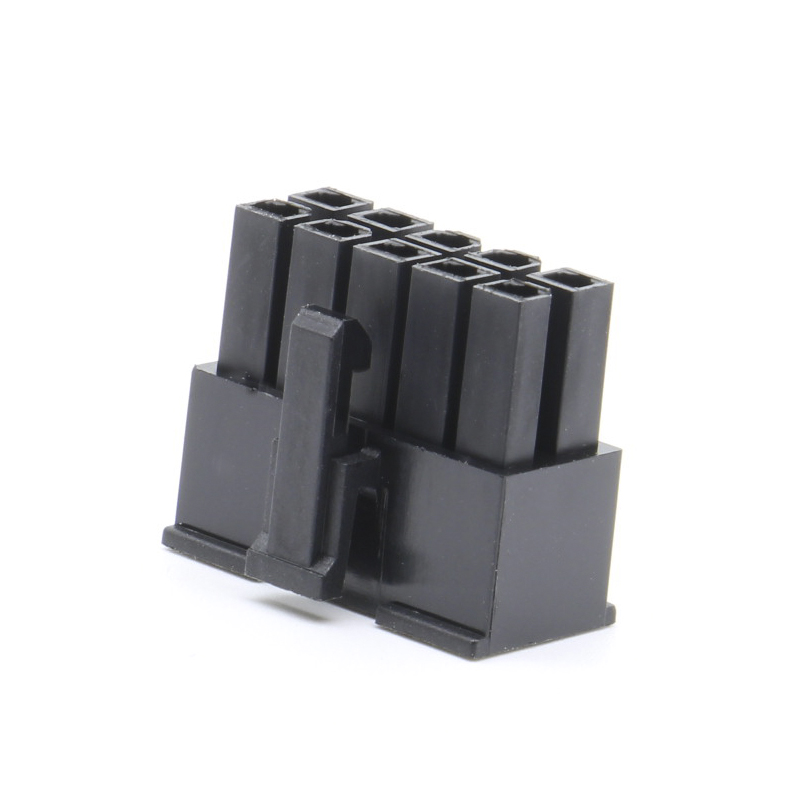 Molex 4.2mm pitch 10p double row black connector connector plug 5557 plastic shell computer car