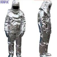 Высокое качество 500 градусов Термальность излучения термостойкие алюминизированный костюм огнезащитная одежда форма пожарного высокое Те