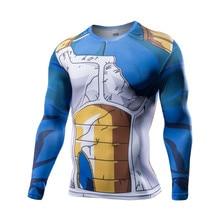 2017 Long Sleeve Anime Camiseta Harajuku Tshirt Vegeta T-shirts Dragon Ball Printed T shirt Compression Fitness Tops Tunsechy