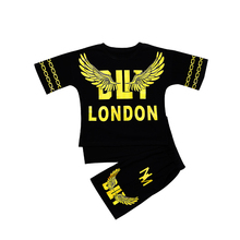 kids clothes toddler boys clothing summer 2019 sets t shirt + pant 2 pieces tracksuit new fashion 6 8 10 12 years