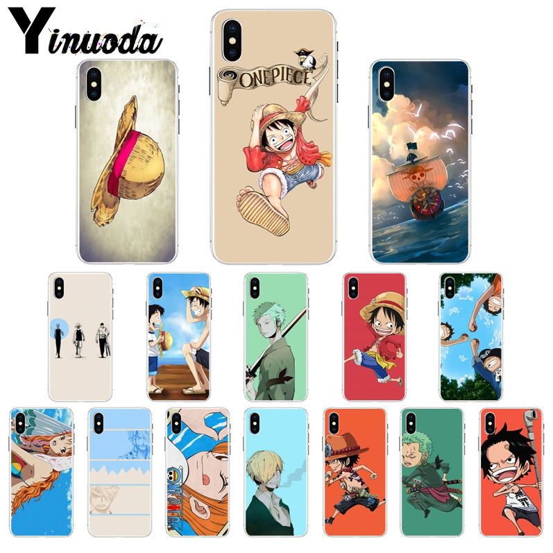 Yinuoda Japanese anime ONE PIECE  DIY Printing Drawing Phone Case cover Shell for iPhone X XS MAX 6 6S 7 7plus 8 8Plus 5 5S XR
