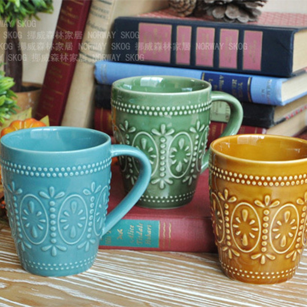 office coffee cups. new arrivel zakka classical relief glaze ceramic breakfast milk mugs office coffee cups drinkware holidayu0027s gift k