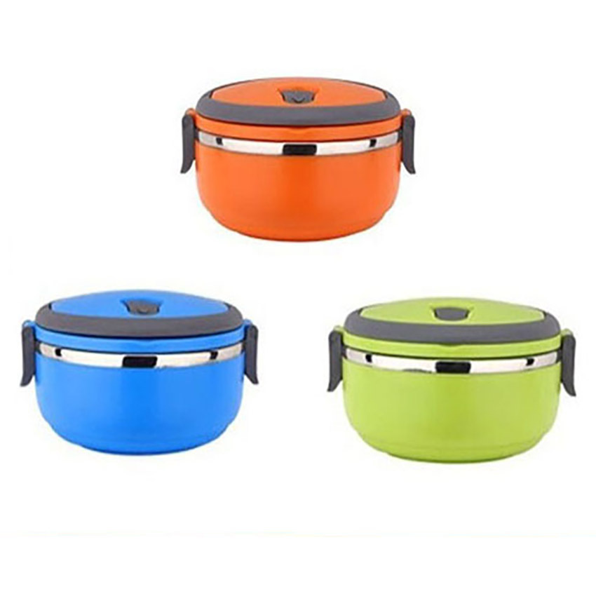 Korean stainless steel heat retaining bento mess tin for for Decor 6 piece lunchbox
