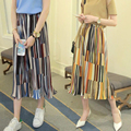 New Arrived Brand Casual Chiffon Print Women Wide Leg Pants Elastic Waist Palazzo Loose Pants Women Trousers Pantalon Femme