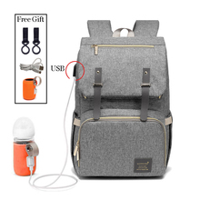 Fashion Large Capacity Baby Nappy Bag Diaper Bag Purse Multifunction USB Mummy Travel Backpack Women Nursing