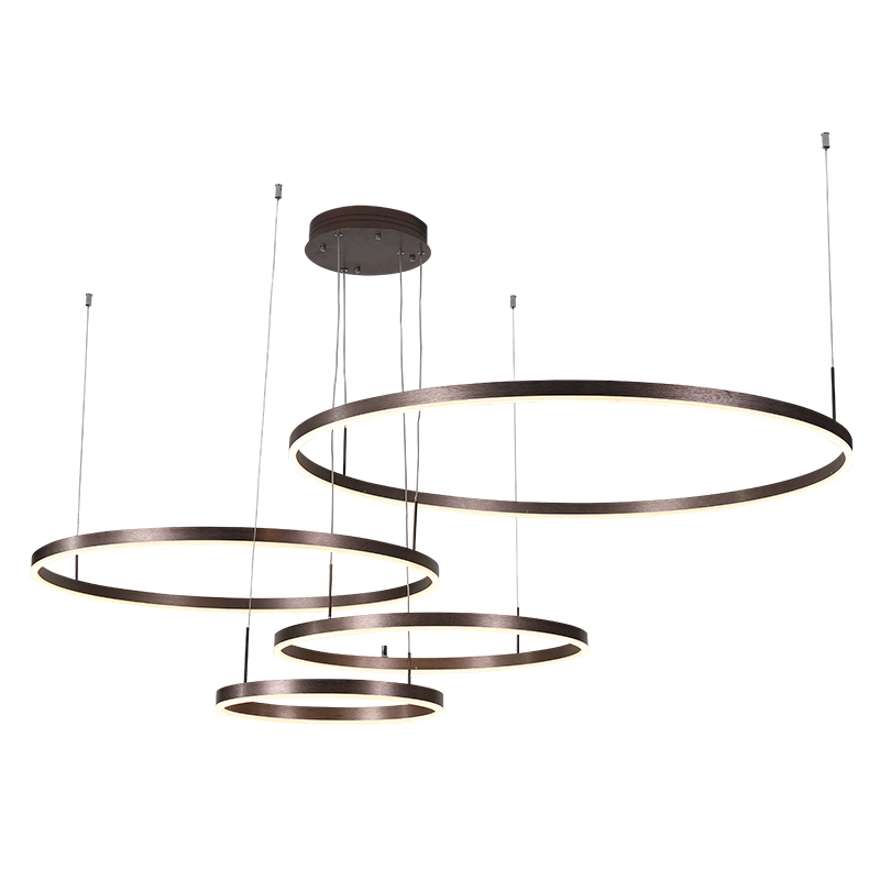 Modern LED Chandelier Lighting for Dining Living Room Suspension luminaire circular Round circle pendant Chandelier for OfficeModern LED Chandelier Lighting for Dining Living Room Suspension luminaire circular Round circle pendant Chandelier for Office