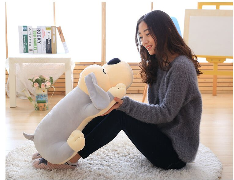 big plush gray dog toy soft lying dog pillow doll gift about 70cm 2609 mad about organics all natural dog