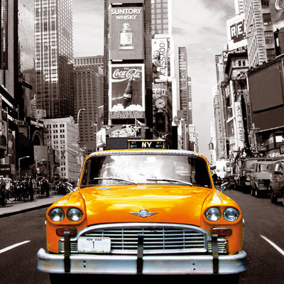 New York Taxi No 1 Laminated Poster (24 x 36)