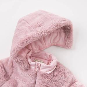 Image 5 - DBA7949 dave bella winter baby meisjes roze kapmantel baby gewatteerde jas kinderen hoge kwaliteit jas kinderen gewatteerde bovenkleding