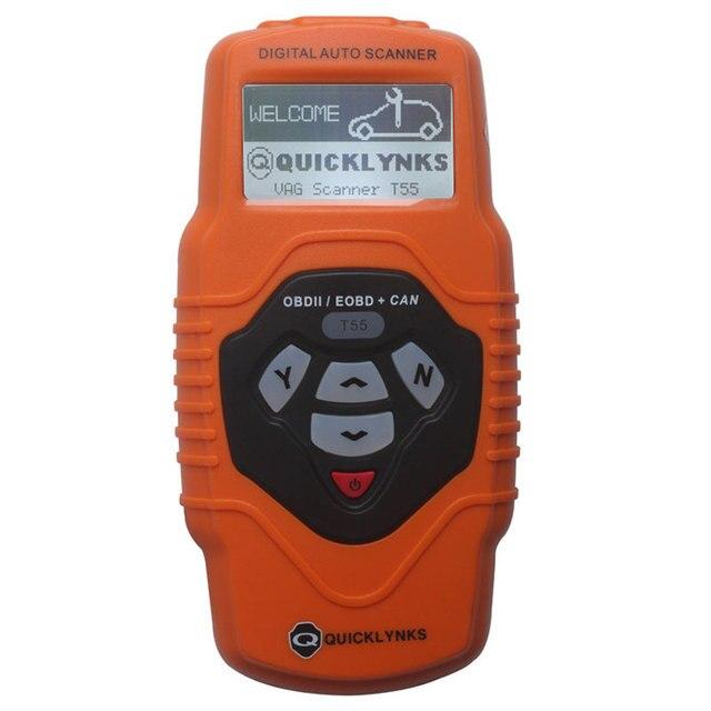 Портативный T55 VAG Сканер Quicklynks Авто OBD2 EOBD/OBDII Может Сканер Средства Диагностики Code Reader Scan инструменты Бесплатно доставка